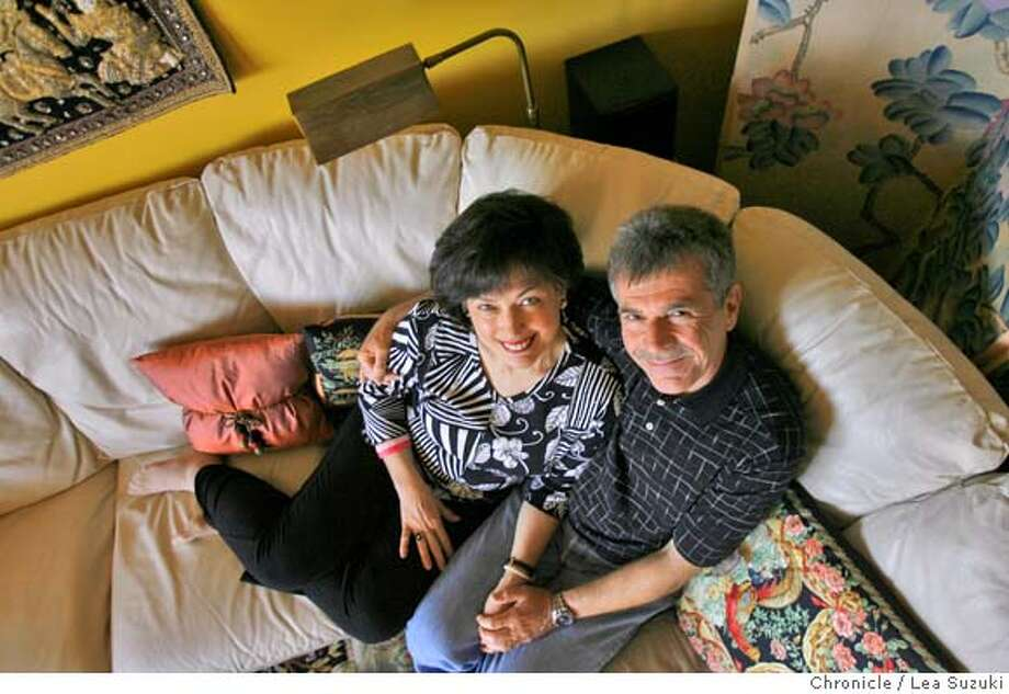 Reid Dorwin (left to right) and Harry Biedak sit together on one of the couches in Dorwin's home on Sunday, April 20, 2008 in San Francisco, Calif.  Photo By Lea Suzuki/ San Francisco Chronicle Photo: Lea Suzuki