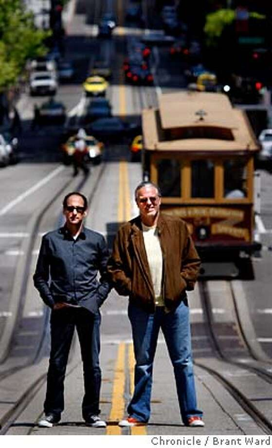 ###Live Caption:Rich Silverstein, left, and Jeff Goodby outside their California Street agency in San Francisco. Goodby, Silverstein & Partners, the San Francisco-based advertising agency is celebrating 25 years in town Wednesday, May 7, 2008. Photo by Brant Ward / The Chronicle###Caption History:Rich Silverstein, left, and Jeff Goodby outside their California Street agency in San Francisco. Goodby, Silverstein & Partners, the San Francisco-based advertising agency is celebrating 25 years in town Wednesday, May 7, 2008. Photo by Brant Ward / The Chronicle###Notes:###Special Instructions: Photo: Brant Ward