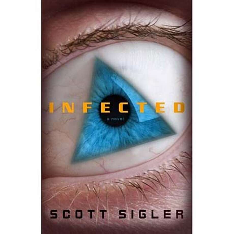 ###Live Caption:Infected By Scott Sigler  Crown; 342 pages; $24.95###Caption History:Infected By Scott Sigler  Crown; 342 pages; $24.95###Notes:###Special Instructions: Photo: From Infected
