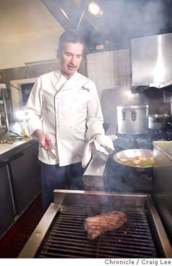 ###Live Caption:Ruggero Gadaldi, chef and owner of Antica Trattoria, 2400 Polk street, making a dish called Tagliata di Manzo, which is grilled New York steak with arugula and roasted potato. This was in San Francisco, Calif., on April 11, 2008.  Photo by Craig Lee / The San Francisco Chronicle###Caption History:Ruggero Gadaldi, chef and owner of Antica Trattoria, 2400 Polk street, making a dish called Tagliata di Manzo, which is grilled New York steak with arugula and roasted potato. This was in San Francisco, Calif., on April 11, 2008.  Photo by Craig Lee / The San Francisco Chronicle###Notes:Ruggero Gadaldi 415-928-5797  Craig Lee 415-218-8597 clee@sfchronicle.com###Special Instructions:MANDATORY CREDIT FOR PHOTOG AND SF CHRONICLE/NO SALES-MAGS OUT Photo: Photo By Craig Lee