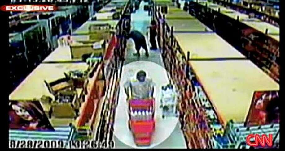 "This image made Friday, Sept. 25, 2009 from security video made available by CNN shows a man believed to be Najibullah Zazi shopping at Beauty Supply Warehouse in suburban Denver. Court papers say that during the summer, Zazi and three unidentified associates bought ""unusually large quantities"" of hydrogen peroxide and acetone, a flammable solvent found in nail-polish remover, from beauty supply stores in the Denver area. (AP Photo/CNN) **NO SALES, FOR EDITORIAL USE ONLY** Photo: CNN, AP"