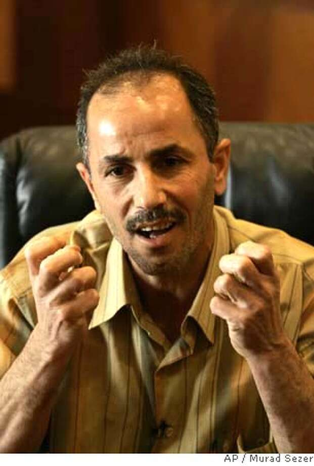 ###Live Caption:Emad al-Janabi, an Iraqi man who says he was tortured in Abu Ghraib prison in Iraq, is seen during an interview with The Associated Press in Istanbul, Turkey, Monday, May 5, 2008. Emad al-Janabi claims in his lawsuit filed in Los Angeles federal court that he was abused beginning in September 2003 by employees of CACI International Inc., and L-3 Communications Holdings Inc., which was formerly Titan Corp. (AP Photo/Murad Sezer)###Caption History:Emad al-Janabi, an Iraqi man who says he was tortured in Abu Ghraib prison in Iraq, is seen during an interview with The Associated Press in Istanbul, Turkey, Monday, May 5, 2008. Emad al-Janabi claims in his lawsuit filed in Los Angeles federal court that he was abused beginning in September 2003 by employees of CACI International Inc., and L-3 Communications Holdings Inc., which was formerly Titan Corp. (AP Photo/Murad Sezer)###Notes:Emad Khudhayir Shahuth al-Janabi, Emad al-Janabi###Special Instructions: Photo: Murad Sezer
