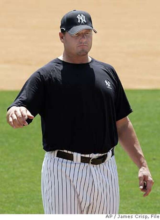 ###Live Caption:adsfadf###Caption History:Roger Clemens is seen during a workout at Cliff Hagan Stadium at the University of Kentucky in Lexington, Ky., Tuesday, May 8, 2007. Clemens began his return to the majors on Tuesday, working out at the University of Kentucky's baseball complex two days after signing a free-agent contract with the New York Yankees. (AP Photo/James Crisp) Ran on: 05-13-2007  From 1999-2003, the only time Roger Clemens would be in the clubhouse was to change lifting belts.###Notes:###Special Instructions:EFE OUT Photo: JAMES CRISP