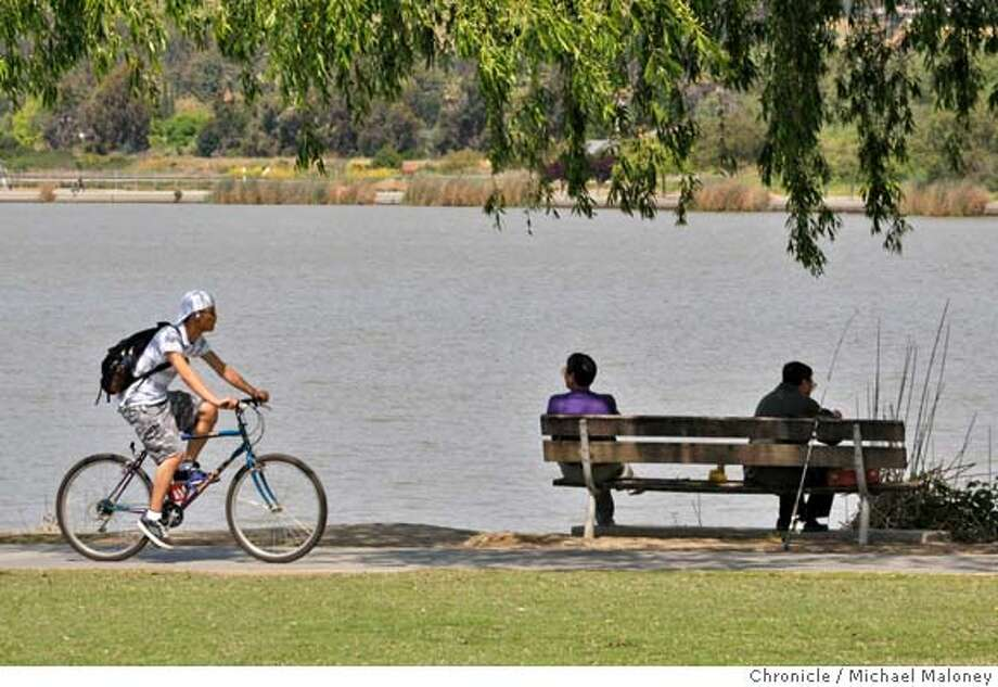 Lake Elizabeth in Fremont, California's Central Park is a popular destination for bikers, anglers or those who just enjoy sitting on a park bench. The 83 acre lake was named after Fremont's sister city, Elizabeth, Australia, on March 22, 1969. Photo taken on April 24, 2008.  Photo by Michael Maloney / San Francisco Chronicle Photo: Michael Maloney