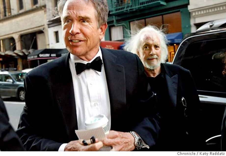 """###Live Caption:Actor Warren Beatty , left, and Robert Towne, right, the screenwriter famous for """"Chinatown,"""" arrive at the San Francisco Film Festival award night at the Westin St. Francis Hotel in San Francisco, Calif. on Thursday, May 1, 2008.  Photo by Katy Raddatz / San Francisco Chronicle###Caption History:Actor Warren Beatty , left, and Robert Towne, right, the screenwriter famous for """"Chinatown,"""" arrive at the San Francisco Film Festival award night at the Westin St. Francis Hotel in San Francisco, Calif. on Thursday, May 1, 2008.  Photo by Katy Raddatz / San Francisco Chronicle###Notes:Warren Beatty (cq), Robert Towne (cq)###Special Instructions:MANDATORY CREDIT FOR PHOTOG AND SAN FRANCISCO CHRONICLE/NO SALES-MAGS OUT Photo: KATY RADDATZ"""