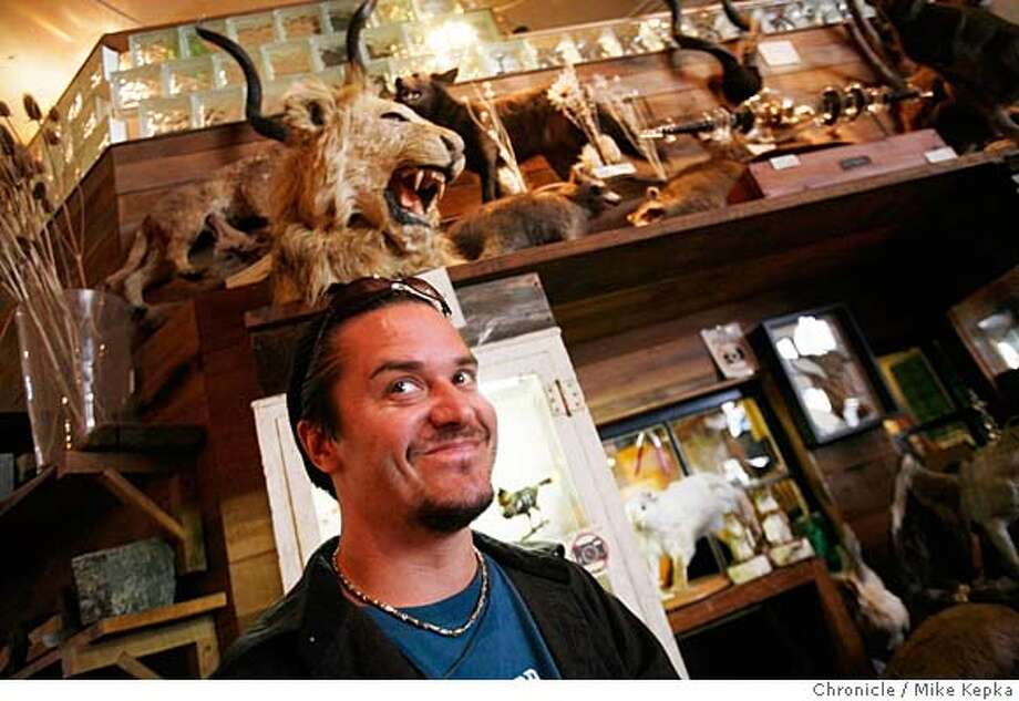 ###Live Caption:Mike Patton, former front man of the band Faith No More, points some of favorite things at the Valencia Street store, Paxton Gate, on Tuesday, April, 15, 2008 in San Francisco, Calif.  Photo by Mike Kepka / San Francisco Chronicle###Caption History:Mike Patton, former front man of the band Faith No More, points some of favorite things at the Valencia Street store, Paxton Gate, on Tuesday, April, 15, 2008 in San Francisco, Calif.  Photo by Mike Kepka / San Francisco Chronicle###Notes:(cq) Mike Patton###Special Instructions:MANDATORY CREDIT FOR PHOTOG AND SAN FRANCISCO CHRONICLE/NO SALES-MAGS OUT Photo: Kepka, Mike