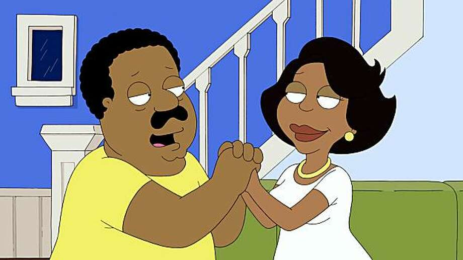 THE CLEVELAND SHOW: is the story of what happens when FAMILY GUY's Cleveland Brown (voiced by Mike Henry) moves to Stoolbend, VA. and marries his high school sweetheart.  THE CLEVELAND SHOW premieres Sunday, Sept. 27 (8:30-9:00 PM ET/PT) on FOX. Pictured L-R: Cleveland and Donna. THE CLEVELAND SHOW ™ and ©2009TCFFC ALL RIGHTS RESERVED. Photo: FOX
