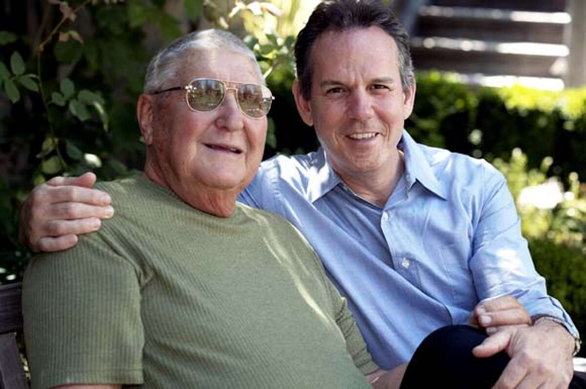 obit photo of Ed Keller, father of famous chef Thomas Keller, also pictured.