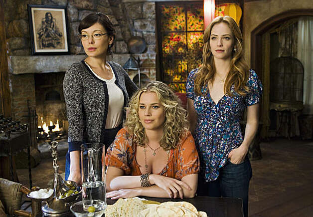 "EASTWICK - In the seaside village of Eastwick, three very different women are about to discover some bewitching talents they never knew they had. And once they get together-- watch out. Something wicked their way comes. ""Eastwick"" stars Ashley Benson as Mia Torcoletti, Jon Bernthal as Raymond Gardener, Veronica Cartwright as Bun Waverly, Jaime Ray Newman as Kat Gardener, Lindsay Price as Joanna Frankel, Rebecca Romijn as Roxanne (Roxie) Torcoletti, Sara Rue as Penny, Johann Urb as Will and Paul Gross as Darryl Van Horne. (ABC/ROBERT VOETS) LINDSAY PRICE, REBECCA ROMIJN, JAIME RAY NEWMAN Photo: ROBERT VOETS, ABC"