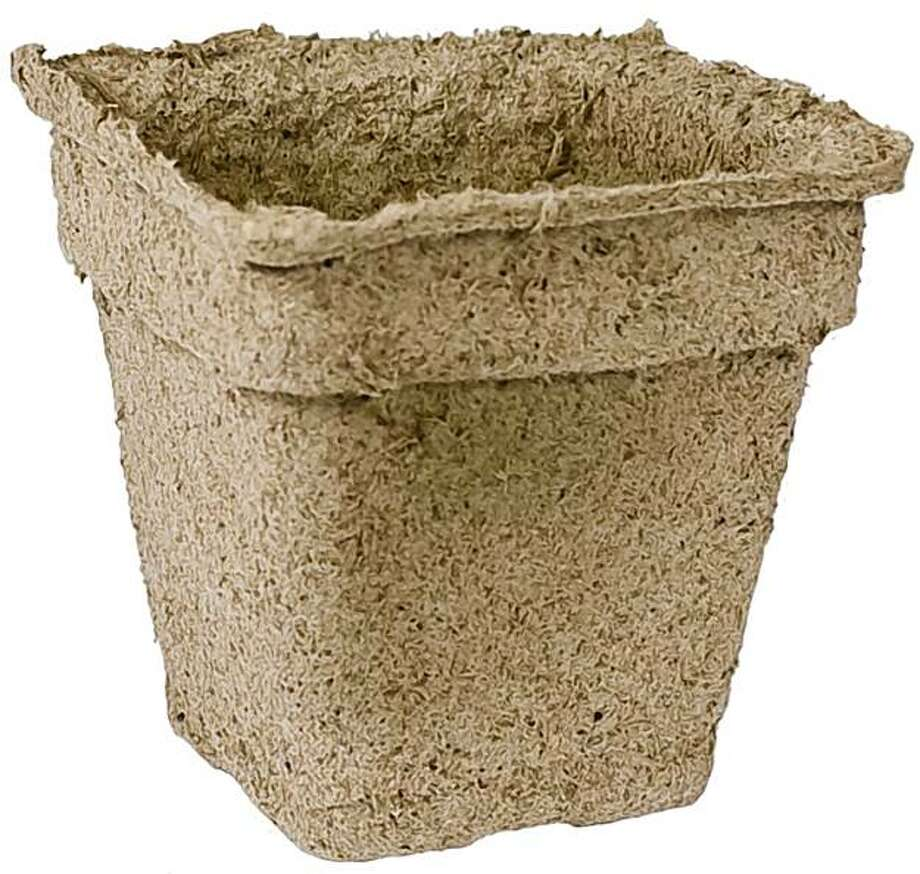 CowPots are seed-starter pots made of with 100 percent composted cow manure. Photo: Courtesy CowPot