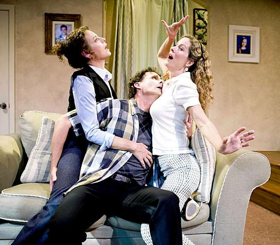 "Stacy Ross (left), Jackson Davis and Marcia Pizzo play parents at play when the kids go to school in Billy Aronson's ""First Day of School"" at SF Playhouse Photo: Zabrina Tipton"