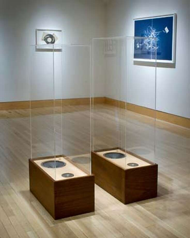 """###Live Caption:""""Stereo Volume"""" (1989) speakers and plexiglas by Christian Marclay###Caption History:""""Stereo Volume"""" (1989) speakers and plexiglas by Christian Marclay###Notes:###Special Instructions: Photo: Christian Marclay Unknown"""