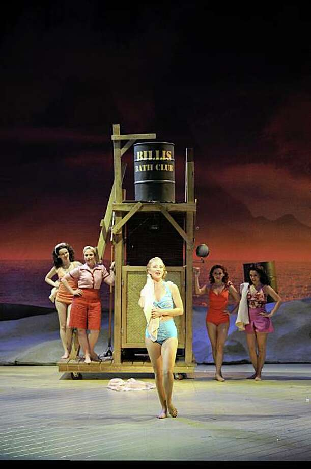 "Carmen Cusack as Nellie Forbush (center) singing ""I'm Gonna Wash that Man Right Outa My Hair"" in Rodgers and Hammerstein's ""South Pacific"" at the Golden Gate Theatre Photo: Peter Coombs"