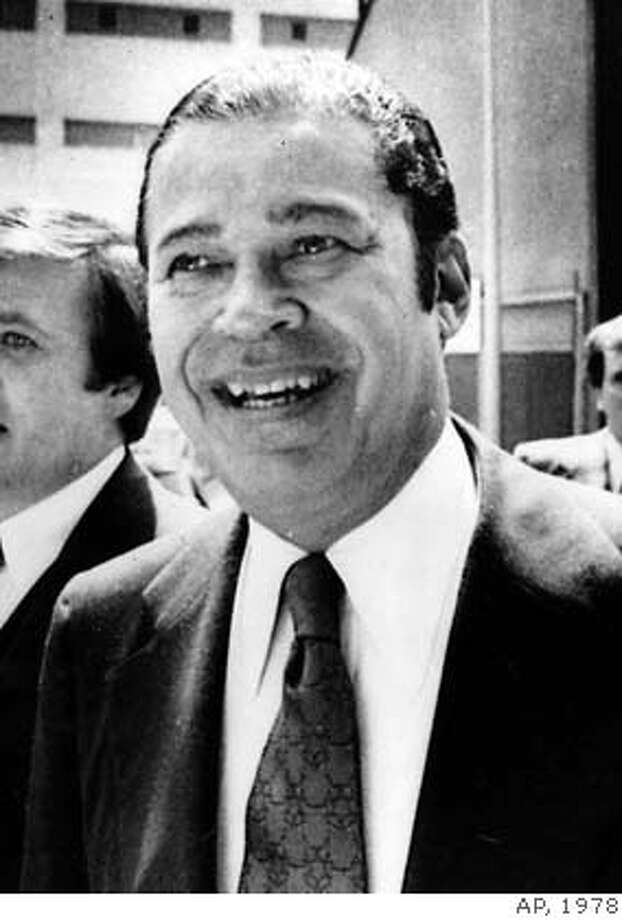 ** FILE ** In this June 7, 1978 file photo, Sen. Edward W. Brooke, R-Mass., is shown in Cambridge, Mass. (AP Photo/file) Photo: Ap