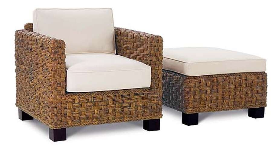 ###Live Caption:Sanibel chair and ottoman from EcoRowe.###Caption History:Sanibel chair and ottoman from EcoRowe.###Notes:###Special Instructions: Photo: Ho
