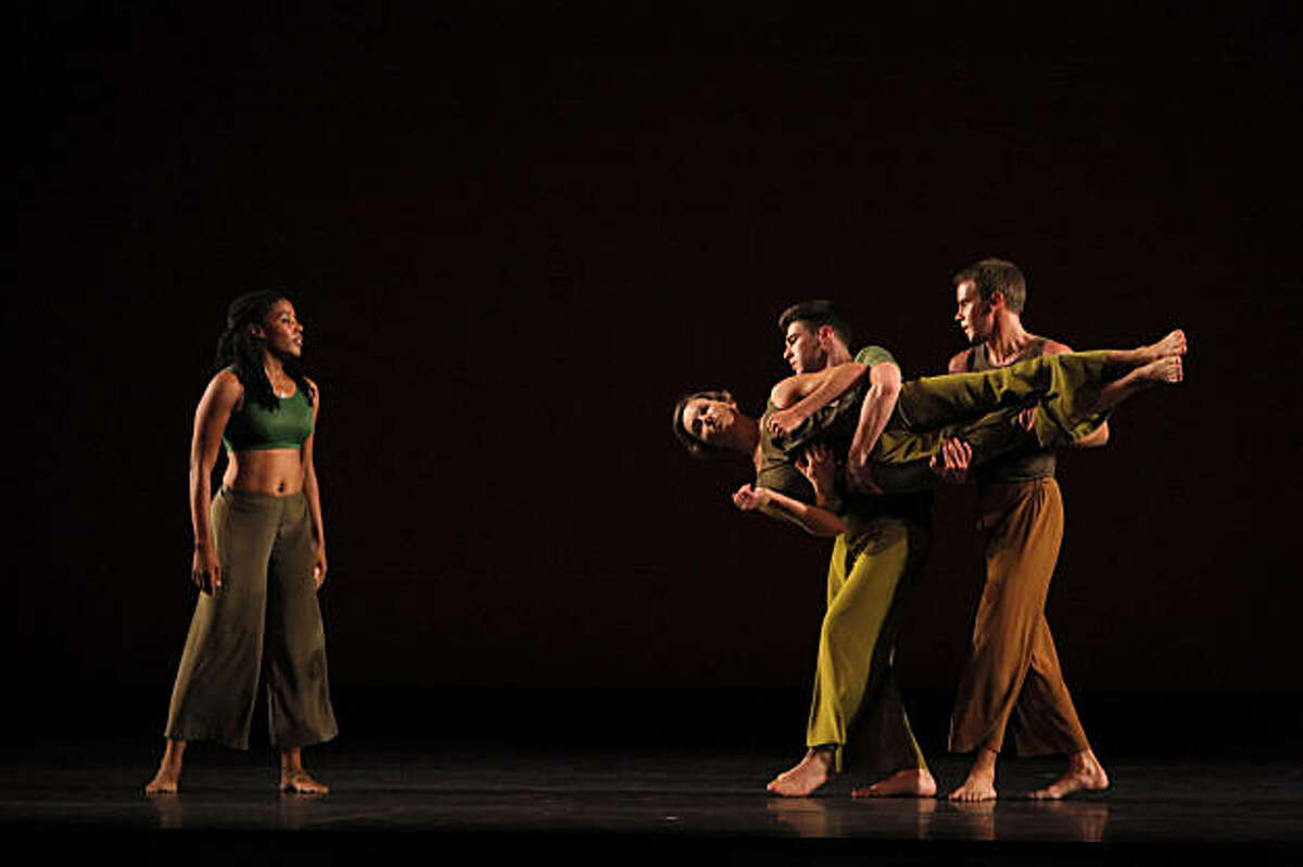 Dress rehearsal for the Mark Morris Dance Group's performance at Zellerbach Hall in Berkeley, Calif. The performance is part of the Cal Performances series.