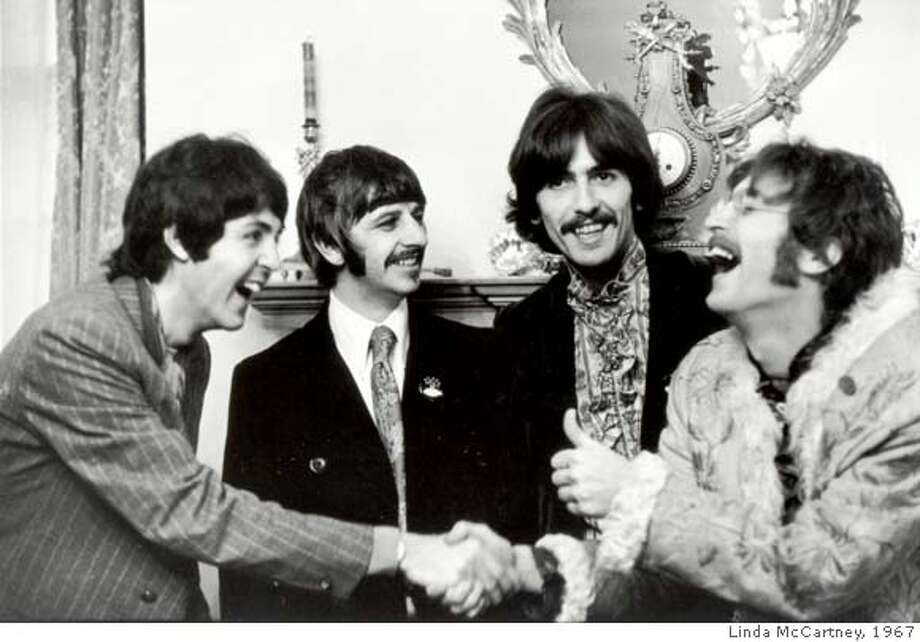 STACK27B-C-24SEP01-DD-HO -- The Beatles by Linda McCartney 1967.  Ran on: 04-24-2008  Linda Eastman's 1967 photo of her future husband, Paul (left), and his Beatles bandmates. Photo: ....