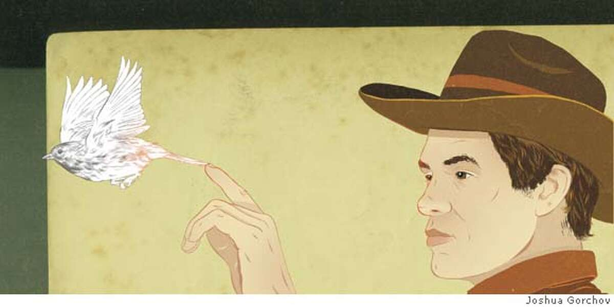 Illustrated portrait of John Muir Laws for BRIGHT IDEAS in 4/27/08 issue of Sunday Magazine