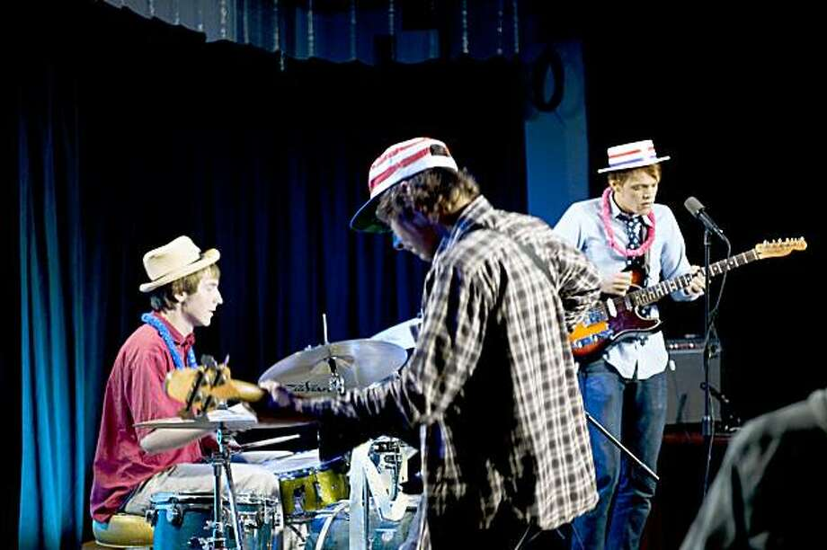 Soul Manure (from left: Sean McCann on drums, Dave McPeters on bass and Stewart J. Adams on guitar). Photo:  Keith Chancey