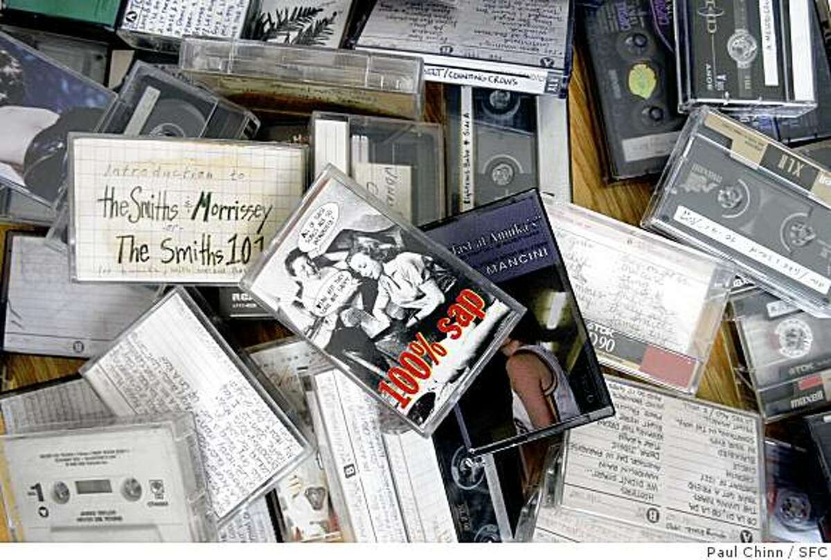 Annika Dukes displays her collection of cassette tapes at her home in Richmond, Calif., on Saturday, April 12, 2008. Many of the recordings were specialized mixes that she created. Photo by Paul Chinn / San Francisco Chronicle