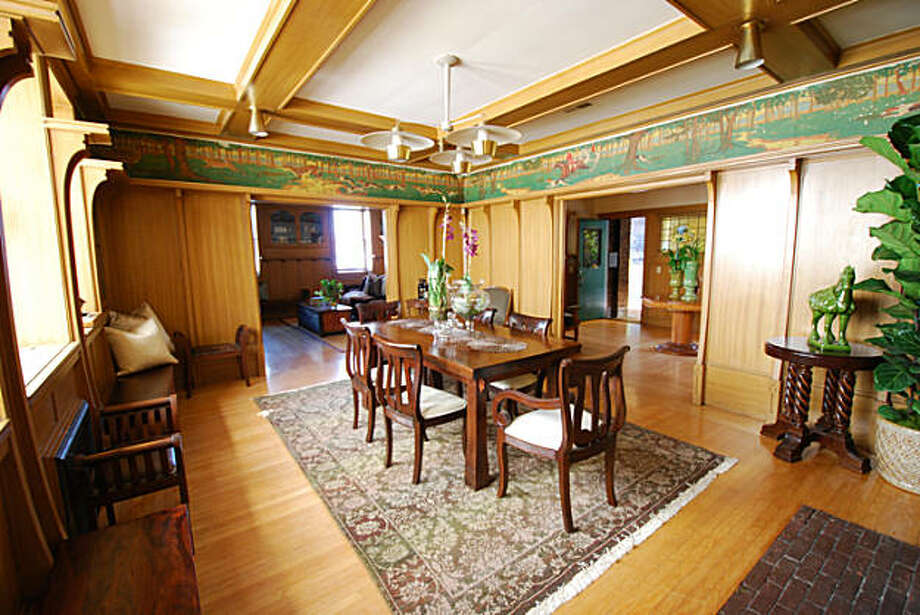 This late 19th Century, two-story, Arts and Crafts home has two fire places, hardwood floors, a formal wood-paneled dining room and other cool features. Photo: Randolph/Cuneo