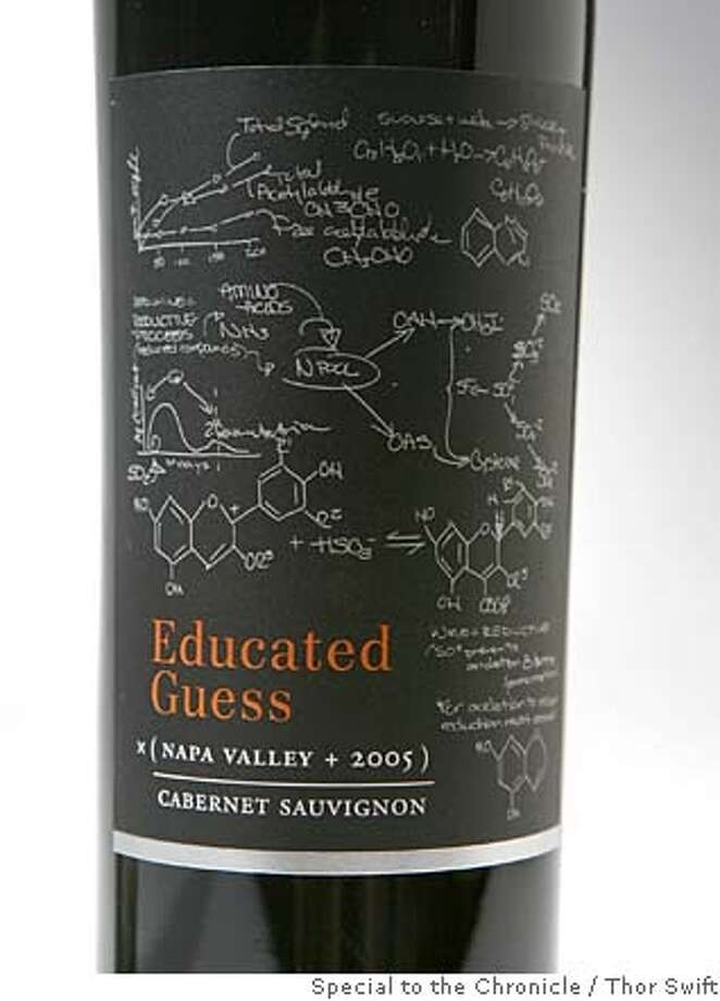 "###Live Caption:For ""lable watch"" feature bottle of 2005 Educated Guess Napa Valley Cabernet Sauvignon photographed Thursday, April 10, 2008 at the San Francisco Chronicle studio.  Thor Swift For The San Francisco Chronicle###Caption History:For ""lable watch"" feature bottle of 2005 Educated Guess Napa Valley Cabernet Sauvignon photographed Thursday, April 10, 2008 at the San Francisco Chronicle studio.  Thor Swift For The San Francisco Chronicle###Notes:photographer phone 415-652-1728###Special Instructions: Photo: Thor Swift"