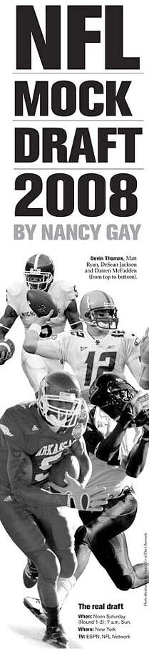 NFL Mock Draft 2008. Chronicle Graphic