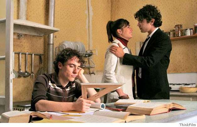 "Elio Germano (L), Diane Fleri, and Riccardo Scarmaccio (R) in ""My Brother is an Only Child."" Photo courtesy of ThinkFilm Photo: Photo Courtesy Of ThinkFilm"