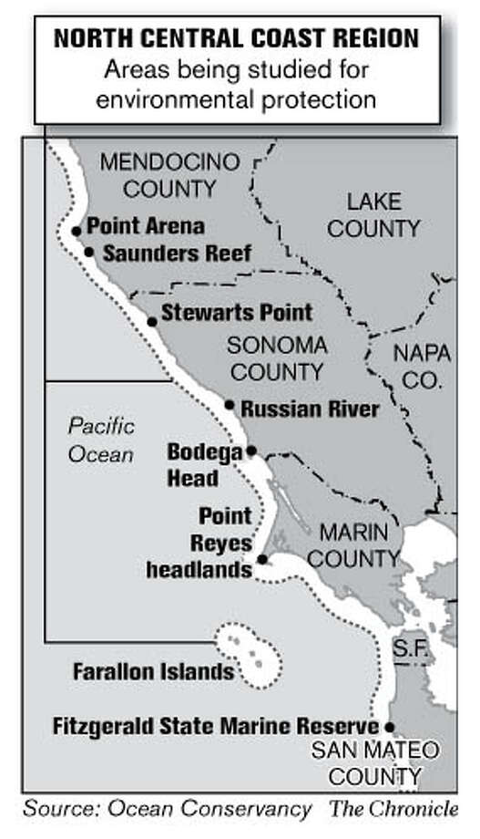 North Central Coast Region. Chronicle Graphic
