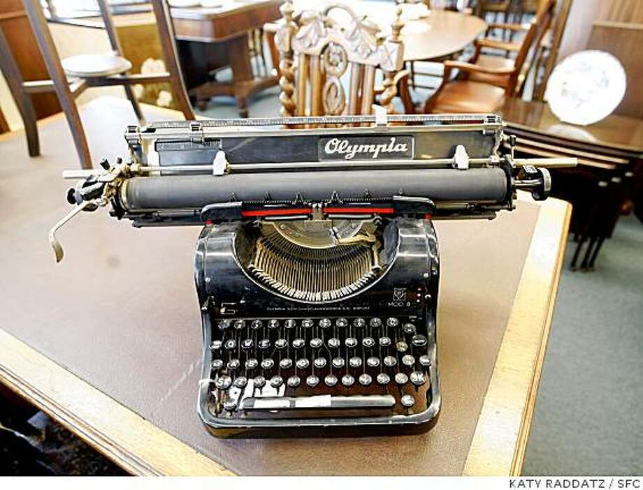 A vintage Olympia typewriter adorns a desktop in McCarney's Furniture at 333 9th Street, on Wednesday April 16, 2008, in San Francisco, Calif.Photo by Katy Raddatz /  San Francisco Chronicle Photo: KATY RADDATZ, SFC