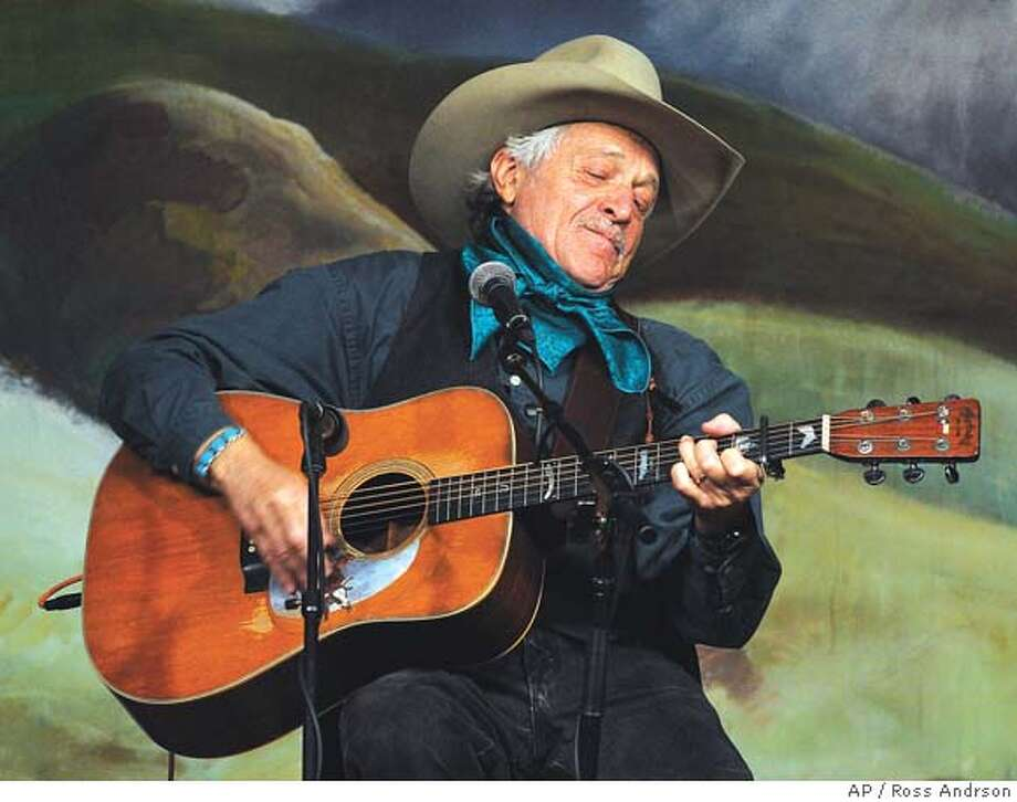 ** ADVANCE FOR WEEKEND OF JAN 24-25 ** Ramblin' Jack Elliot performs at Western Folklife Center in Elko, Nev., during the National Cowboy Poetry Gathering, in this January, 2003 file photo. The National Cowboy Poetry Gathering has grown in ways never envisioned by its founders. From its nascent beginnings, the Gathering has become, if not an outright cultural phenomenon, at least a phenomenon of the culture that inspired it. (AP Photo/Elko Daily Free Press, Ross Andrson, File) Australian bush poet Milton Taylor tells a story at the National Cowboy Poetry Gathering in Elko, Nev., which this year will include songs and stories from a group of artists and horsemen from Mongolia. ALSO Ran on: 10-01-2006  Ramblin' Jack Elliott never uses a set list onstage: &quo;I know about 600 songs well enough to sing without any difficulty,&quo; he says. &quo;That's my working repertoire.&quo;  Ran on: 10-01-2006  Ramblin' Jack Elliott never uses a set list onstage: &quo;I know about 600 songs well enough to sing without any difficulty,&quo; he says. &quo;That's my working repertoire.&quo; Photo: ROSS ANDRSON