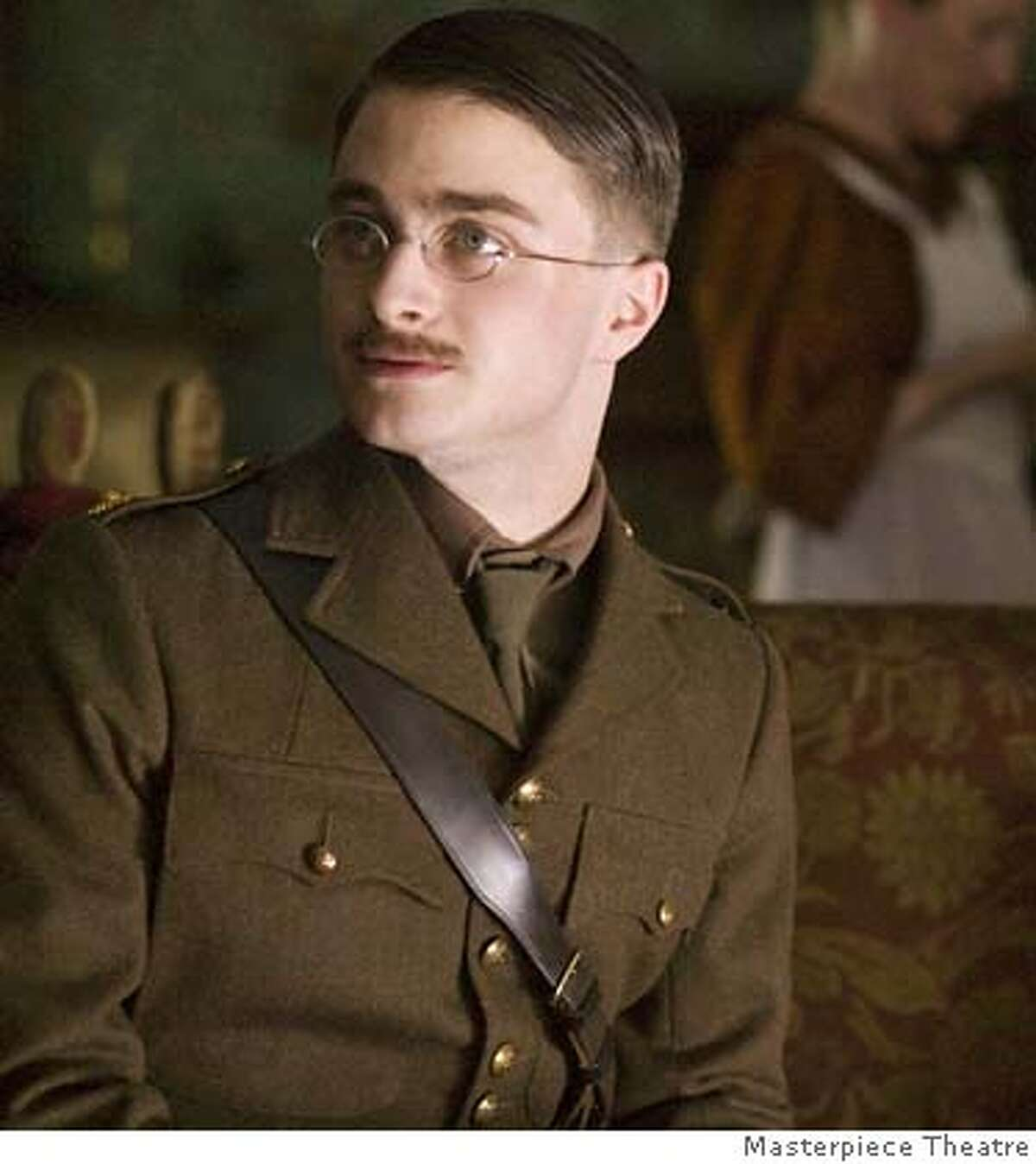 ###Live Caption:Daniel Radcliffe (Harry Potter) stars as Jack - son of British literary giant Rudyard Kipling - who triggers a bitter family conflict when he joins the Irish Guard at the outset of World War I.###Caption History:Daniel Radcliffe (Harry Potter) stars as Jack � son of British literary giant Rudyard Kipling � who triggers a bitter family conflict when he joins the Irish Guard at the outset of World War I.###Notes:###Special Instructions: