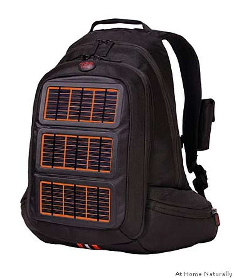 ###Live Caption:Solar backpack from www.athomenaturally.com###Caption History:Solar backpack from www.athomenaturally.com###Notes:###Special Instructions: Photo: At Home Naturally