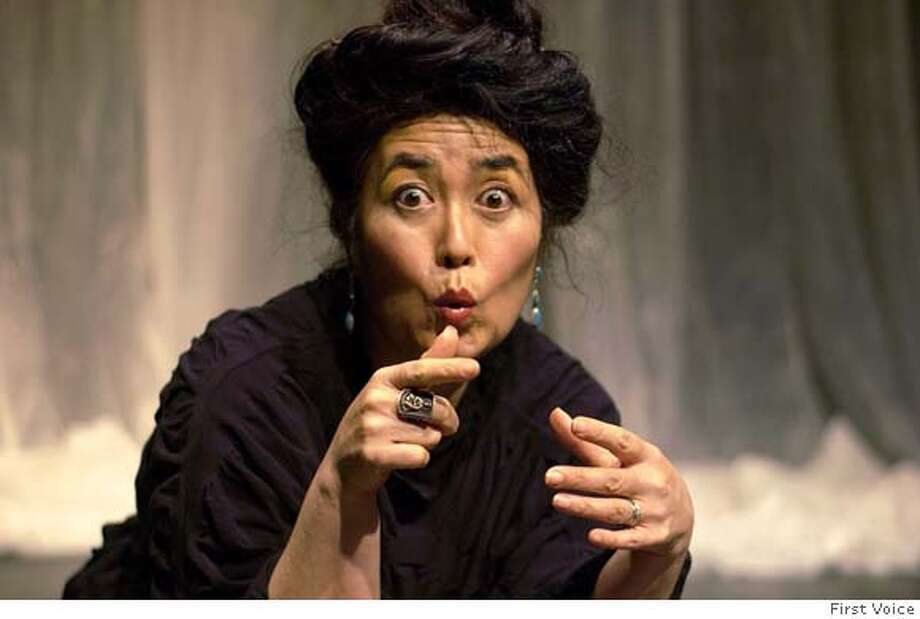 "Storyteller Brenda Wong Aoki tells of star-crossed lovers in her adaptation of a venerable Japanese classic ""The Legend of the Morning Glory."" at the Jewish Community Center of SF on April 25, 2008 Photo: First Voice"