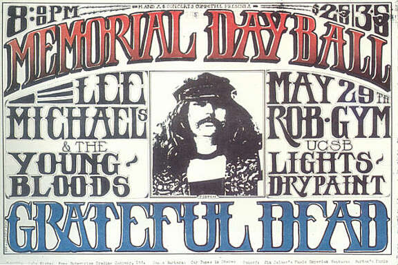 "Grateful Dead Memorial Day Ball poster featuring Ron ""Pigpen"" McKernan. Robertson Gym. UCSB, Santa Barbara May 29, 1969"
