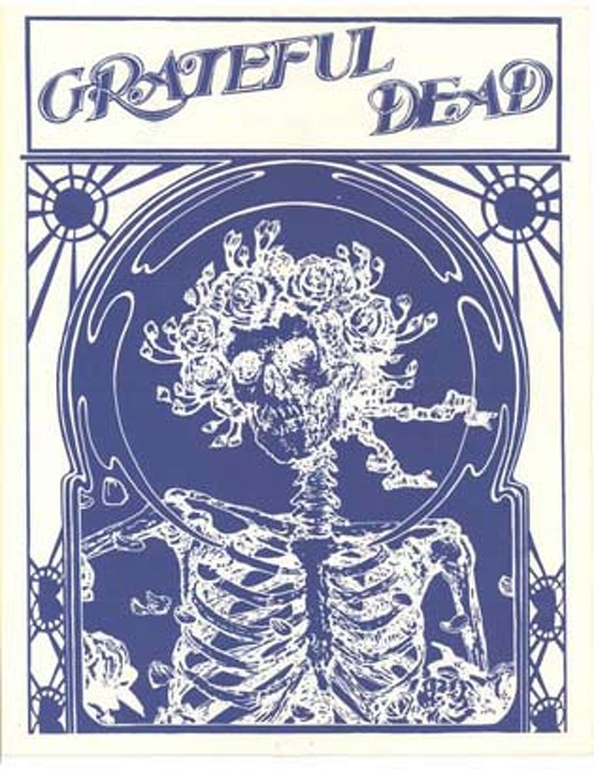 Cover of the Europe 1972 tour itinerary booklet. Photo courtesy of Grateful Dead archive