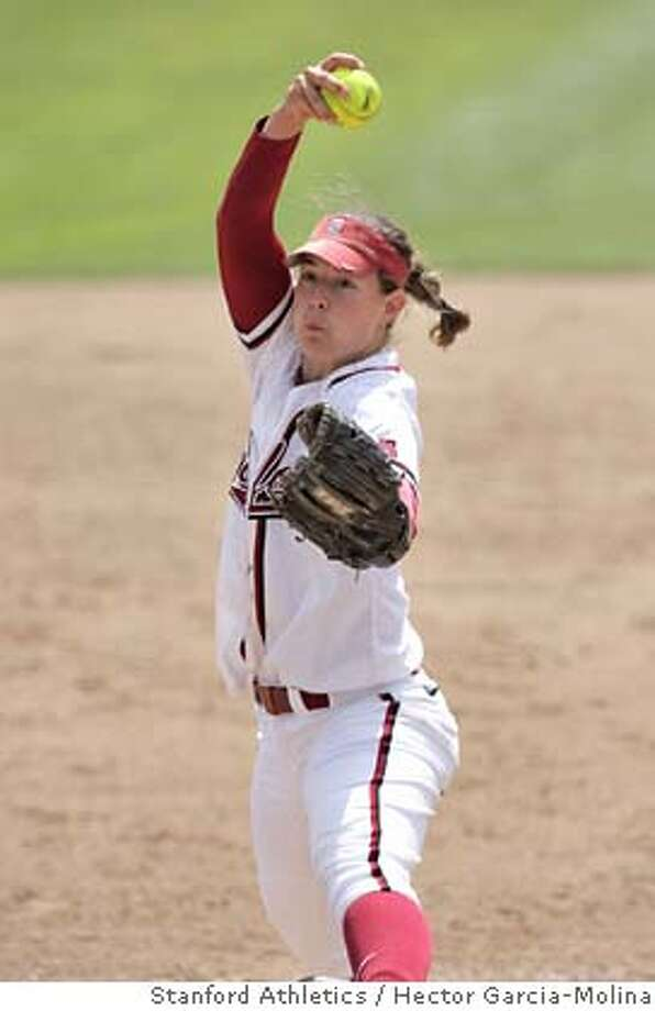 ###Live Caption:Stanford pitcher Missy Penna pitches against Arizona State at Boyd and Jill Smith Family Stadium in Stanford, Calif. on March 30, 2008. Photo: Hector Garcia-Molina / Stanford Athletics###Caption History:Slug: Stanford Penna Caption: Stanford pitcher Missy Penna against Arizona State at Boyd and Jill Smith Family Stadium at Stanford on March 30, 2008. Credit: Hector Garcia-Molina/Stanford Athletics Rights: no limit to paper and Gate rights.###Notes:###Special Instructions: Photo: Hector Garcia-Molina / Stanford