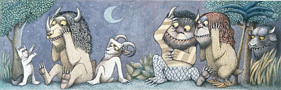 """Final drawing for """"Where the Wild Things Are,"""" pen and ink, watercolor by Maurice Sendak, 1963. Photo: Contemporary Jewish Museum"""