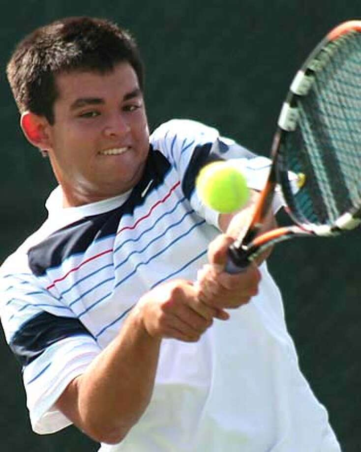 ###Live Caption:Redwood junior tennis player Andrew Kells, the North Coast Section champion Ran on: 05-12-2007###Caption History:Redwood junior tennis player Andrew Kells, the North Coast Section champion  Ran on: 05-12-2007  Thai Tu of Alameda has won 3 NCS tennis titles and carries a high USTA ranking.  Ran on: 05-12-2007###Notes:###Special Instructions: Photo: Ho