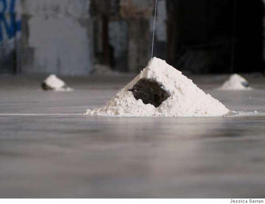 """Flour Pile,"" part of Jessica Serran's installation at Cricket Engine Photo: Jessica Serran"