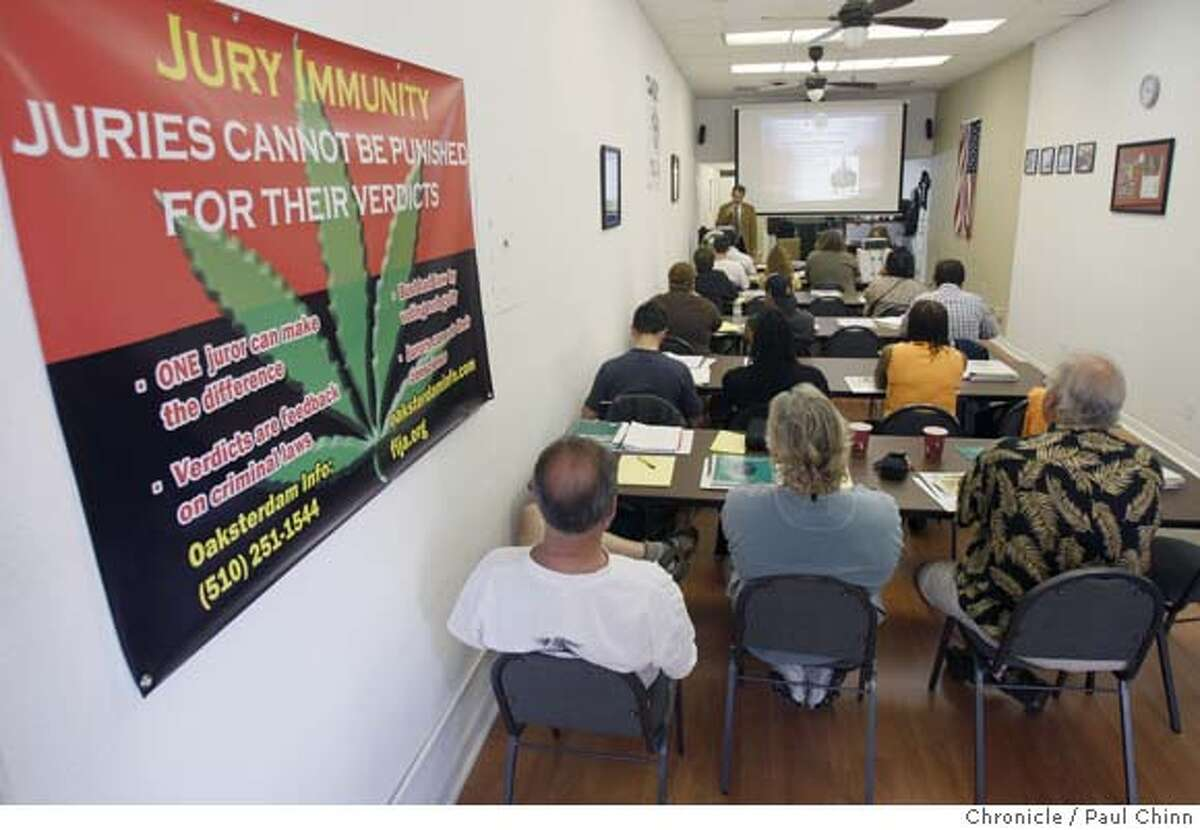 ###Live Caption:Students attend the opening class of the Oaksterdam University marijuana-growing education program in Oakland, Calif., on Saturday, April 12, 2008. The curriculum covers legal and horticultural issues for people interested in operating medicinal pot clubs. Photo by Paul Chinn / San Francisco Chronicle###Caption History:Students attend the opening class of the Oaksterdam University marijuana-growing education program in Oakland, Calif., on Saturday, April 12, 2008. The curriculum covers legal and horticultural issues for people interested in operating medicinal pot clubs. Photo by Paul Chinn / San Francisco Chronicle###Notes:###Special Instructions:MANDATORY CREDIT FOR PHOTOGRAPHER AND S.F. CHRONICLE/NO SALES - MAGS OUT