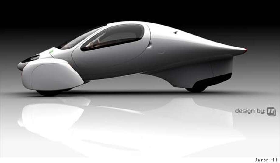###Live Caption:Aptera Motors, Inc, Carlsbad, CA Vehicle design by Eleven,  The Aptera Typ-1 (all electric) and the Aptera Typ-H (the hybrid) were designed by Jason Hill and Nathan Armstrong who borrowed curves and shapes from aeronautical design. the small two-seater hybrid car can achieve up to 300 miles per gallon and costs under $30,000  Aptera Motors, Inc, Carlsbad, CA Vehicle design by Eleven,  The Aptera Typ-1 (all electric) and the Aptera Typ-H (the hybrid) were designed by Jason Hill and Nathan Armstrong who borrowed curves and shapes from aeronautical design. the small two-seater hybrid car can achieve up to 300 miles per gallon and costs under $30,000###Caption History:Aptera Motors, Inc, Carlsbad, CA Vehicle design by Eleven,  The Aptera Typ-1 (all electric) and the Aptera Typ-H (the hybrid) were designed by Jason Hill and Nathan Armstrong who borrowed curves and shapes from aeronautical design. the small two-seater hybrid car can achieve up to 300 miles per gallon and costs under $30,000  Aptera Motors, Inc, Carlsbad, CA Vehicle design by Eleven,  The Aptera Typ-1 (all electric) and the Aptera Typ-H (the hybrid) were designed by Jason Hill and Nathan Armstrong who borrowed curves and shapes from aeronautical design. the small two-seater hybrid car can achieve up to 300 miles per gallon and costs under $30,000###Notes:###Special Instructions: Photo: By Jason Hill