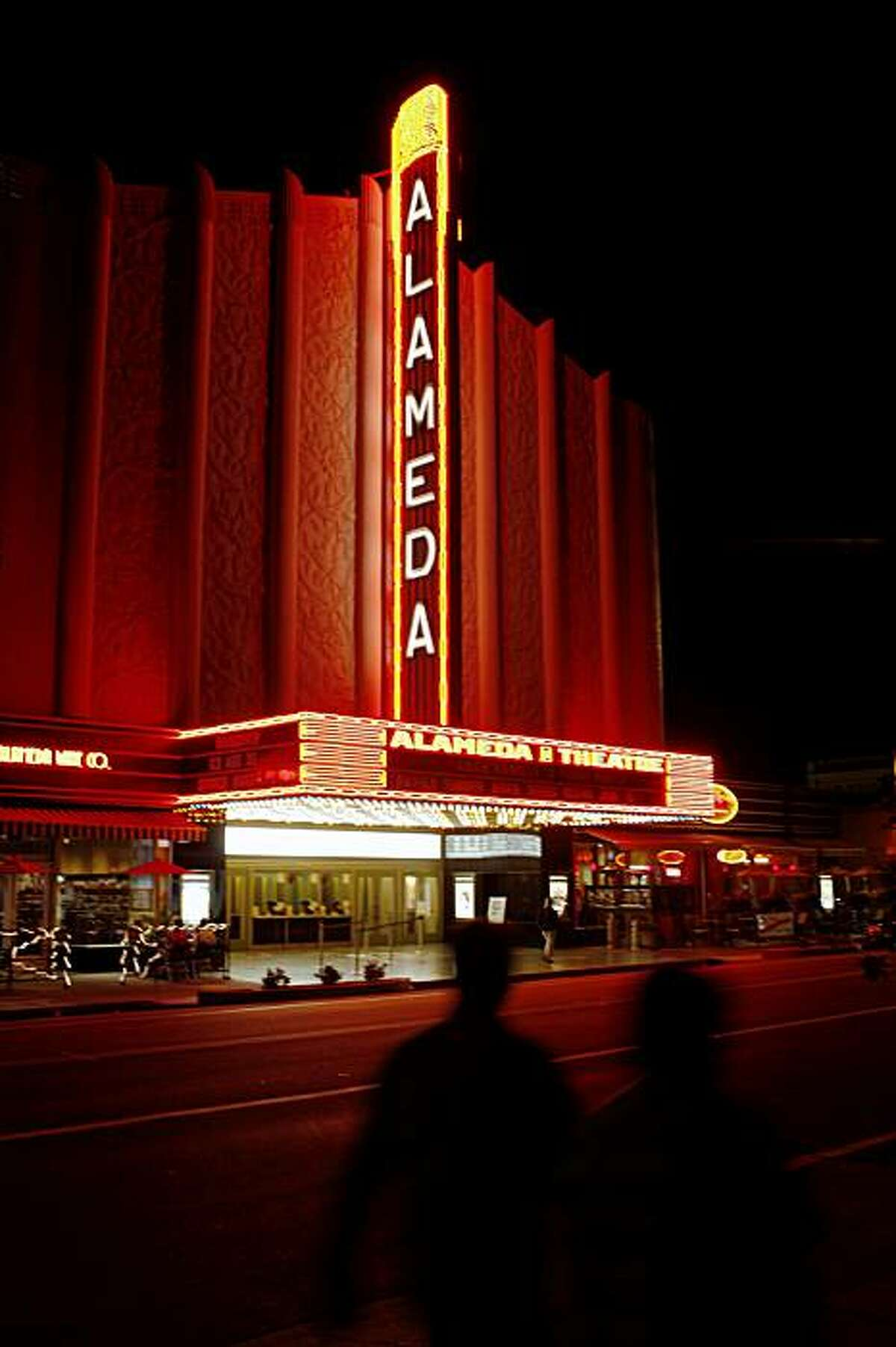 An exterior view of Alameda Theater multiplex on Central Ave in Downtown Alameda, Calif. on Tuesday, Aug. 4, 2009.