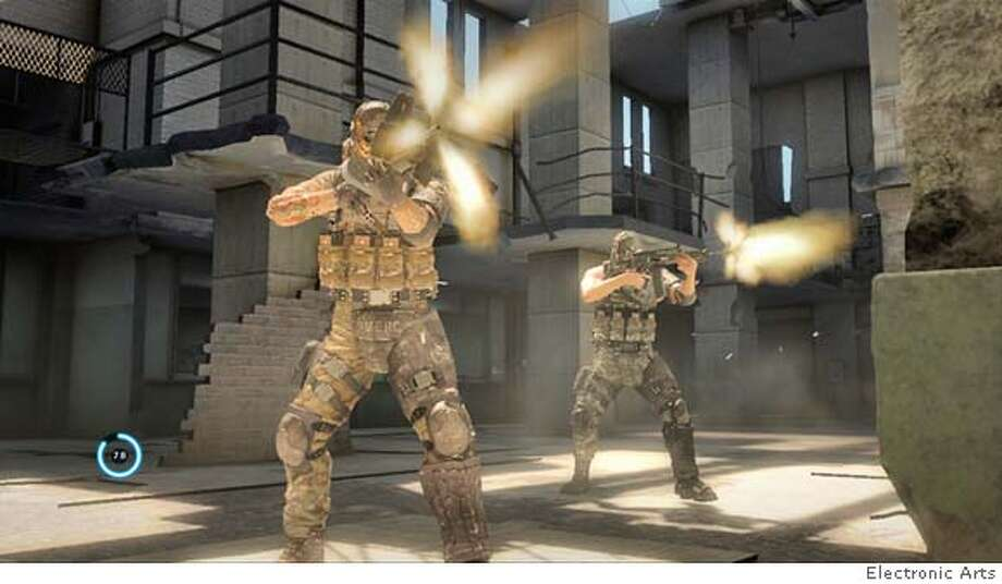 Army of Two has some interesting co-op ideas, but the testosterone-fueled bravado of its characters quickly grow tiring. Courtesy Electronic Arts Photo: Courtesy Electronic Arts