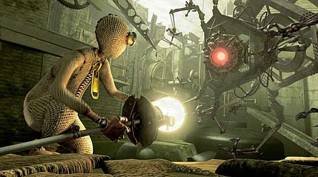 "#9 (voiced by Elijah Wood) battles the Fabrication Machine in Shane Acker's epic adventure fantasy ""9."" #9 (voiced by Elijah Wood) battles the Fabrication Machine in Shane AckerÕs epic adventure fantasy 9, which Focus Features releases nationwide on 9/09/09. Photo Credit:  Focus Features Photo: Focus Features,  Photo Credit: Ken Regan"