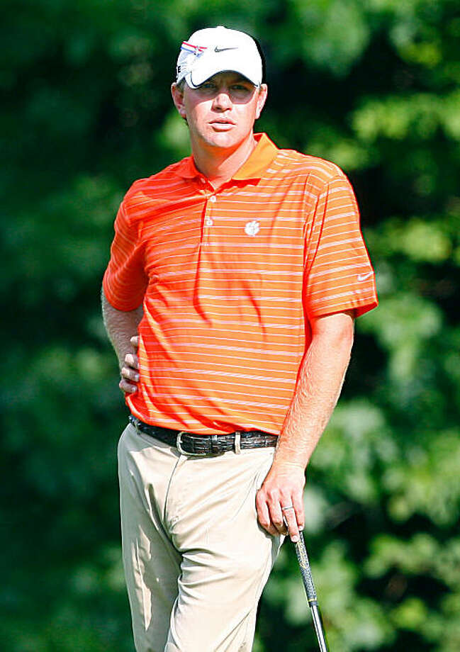 NORTON, MA - SEPTEMBER 5:  Lucas Glovers sports Clemson University shirt during the second round of the Deutsche Bank Championship held at TPC Boston on September 5, 2009 in Norton, Massachusetts. (Photo by Jim Rogash/Getty Images) Photo: Jim Rogash, Getty Images