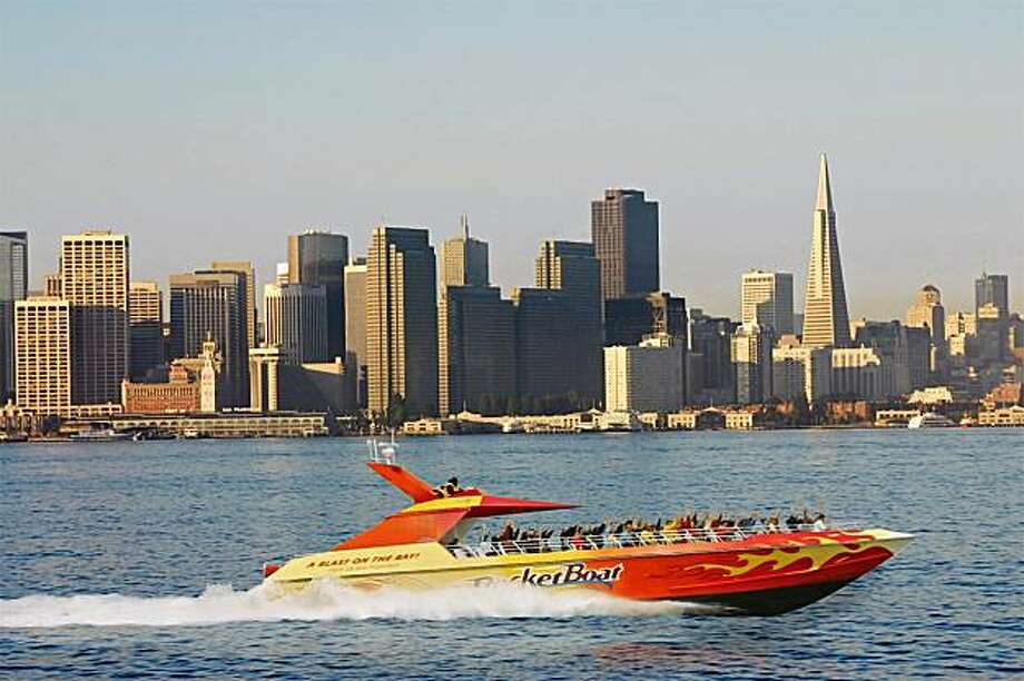 The RocketBoat blasts across the Bay through Oct. 31 Photo: Pier 39