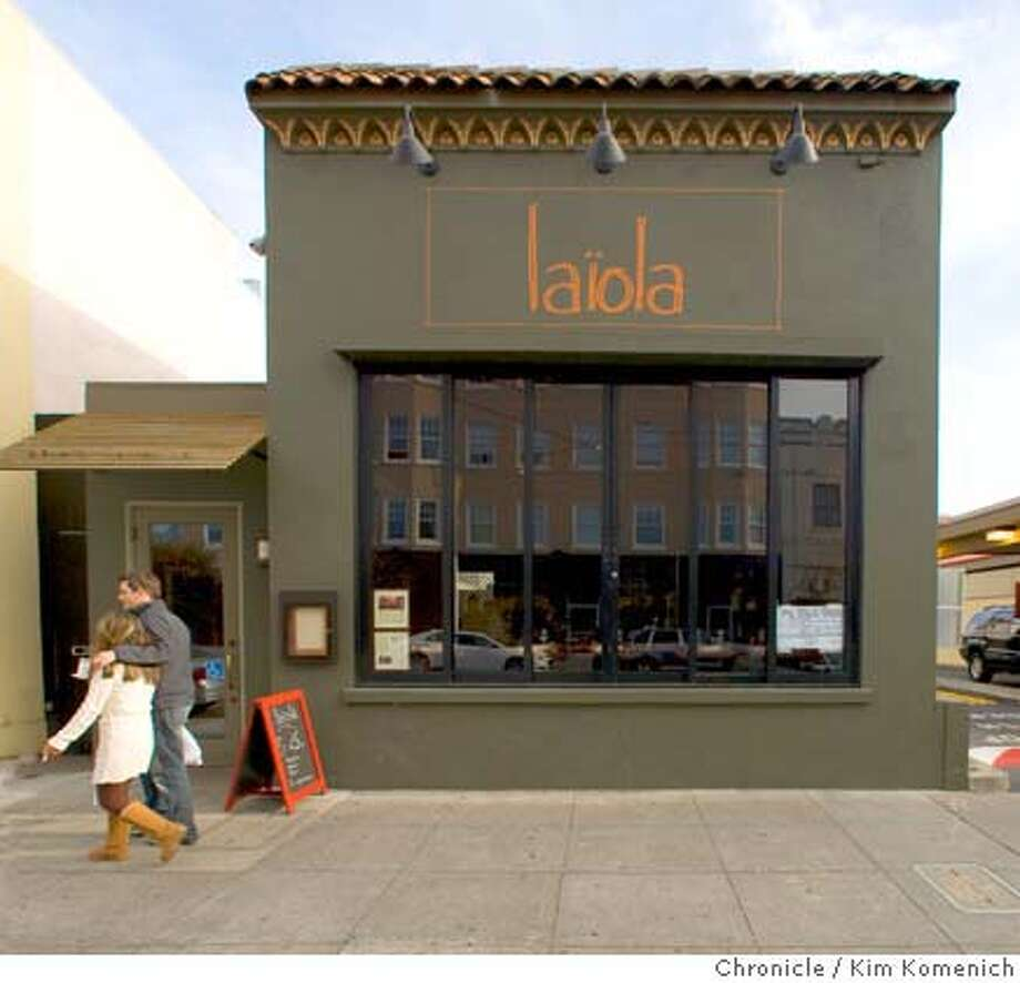 The Laiola restaurant at 2031 Chestnut St. in San Francisco, Calif., is photographed on April 5, 2008.  Photo by Kim Komenich / San Francisco Chronicle Photo: Kim Komenich