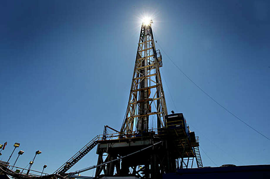 A drilling rig over 170 feet high will drill down to 12,000 feet. Altarock Energy Inc. is about to produce a new type of geothermal energy in Lake County in the Geysers area by injecting water into deep wells they are drilling. Photo: Brant Ward, The Chronicle