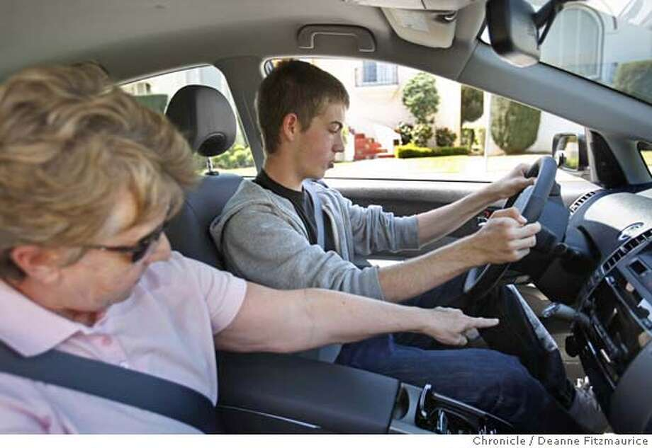 ###Live Caption:Maxx Gavrich, 15, spends his first day learning to drive with Judy Lundblad from Ann's Fearless Driver Driving School on April12, 2008 in San Francisco, Calif.  Deanne Fitzmaurice / The Chronicle###Caption History:Max Gavrich, 15, spends his first day learning to drive with Judy Lundblad from Ann's Fearless Driver Driving School on April12, 2008 in San Francisco, Calif.  Deanne Fitzmaurice / The Chronicle###Notes:###Special Instructions:MANDATORY CREDIT FOR PHOTOG AND SAN FRANCISCO CHRONICLE/NO SALES-MAGS OUT Photo: Deanne Fitzmaurice